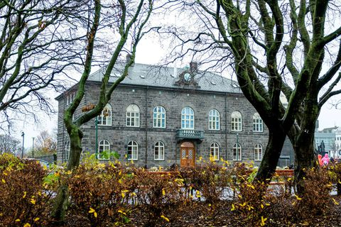 The house of parliament in central Reykjavik.