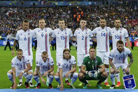 Iceland's starting 11 at Euro 2016.