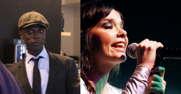 Alex Jallow og Björk Guðmundsdóttir.