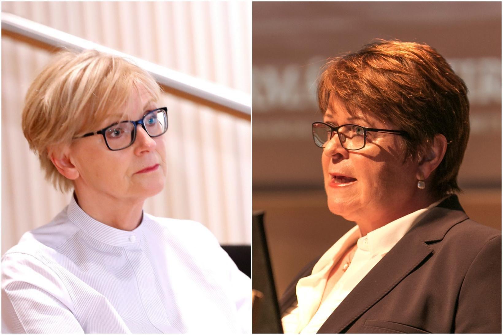 Rannveig Sigurðardóttir og Unnur Gunnarsdóttir, forstjóri FME.