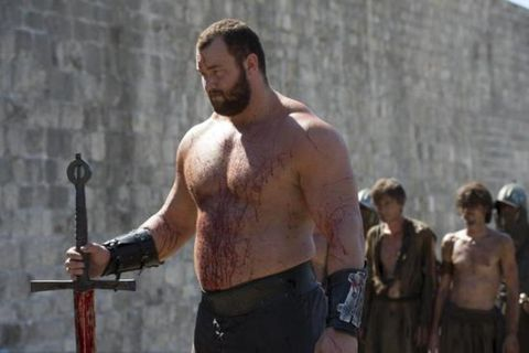 Björnsson became a star by crushing a man's skull in an episode of the Game of Thrones.