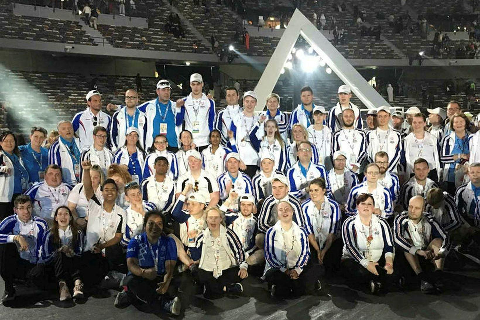 Keppendur Íslands voru 38 talsins á Special Olympics í Abu …