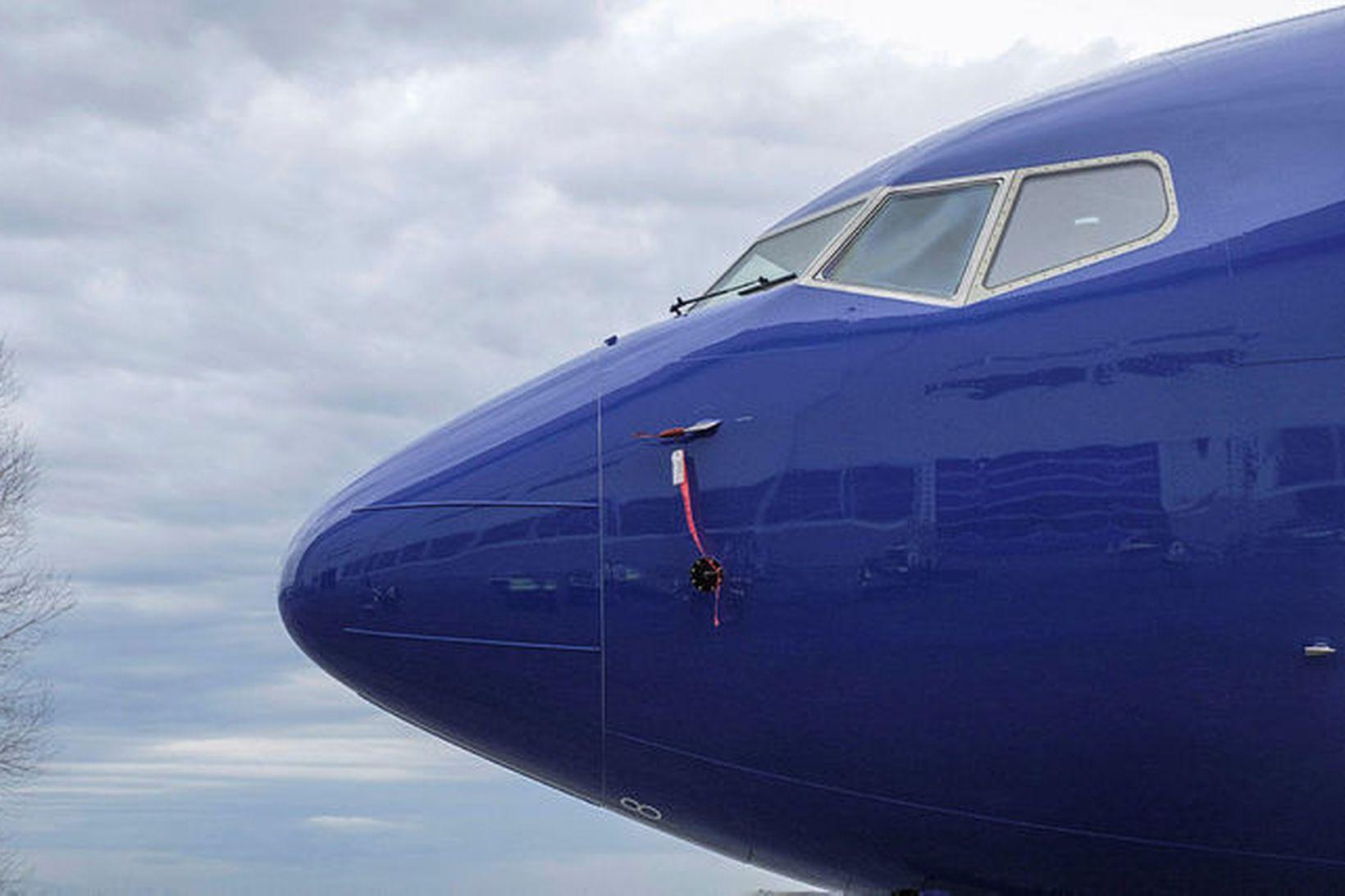 Vél af gerðinni 737 MAX 8 við verksmiðjur Boeing í …