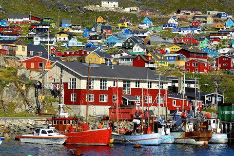 Frá Qaqortoq á Suður Grænlandi.