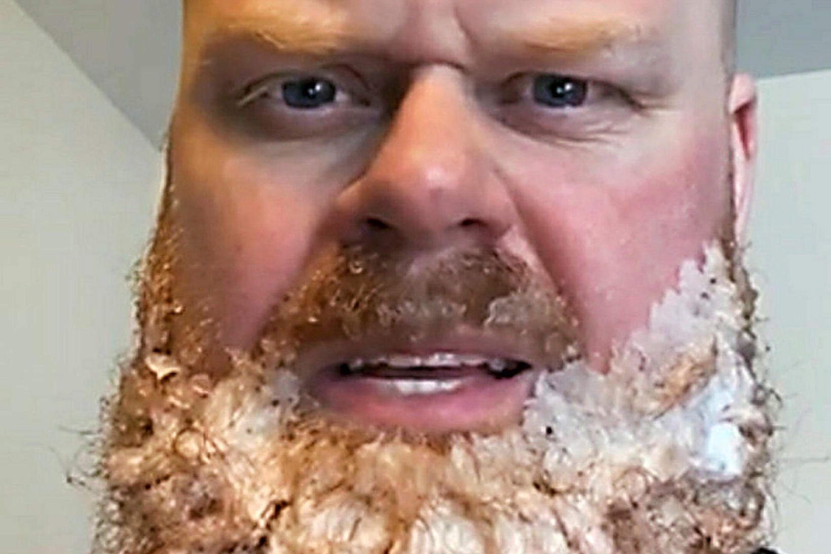 Fannbarinn. Aðalsteinn Sigurðarson segir að mikið hafi snjóað.