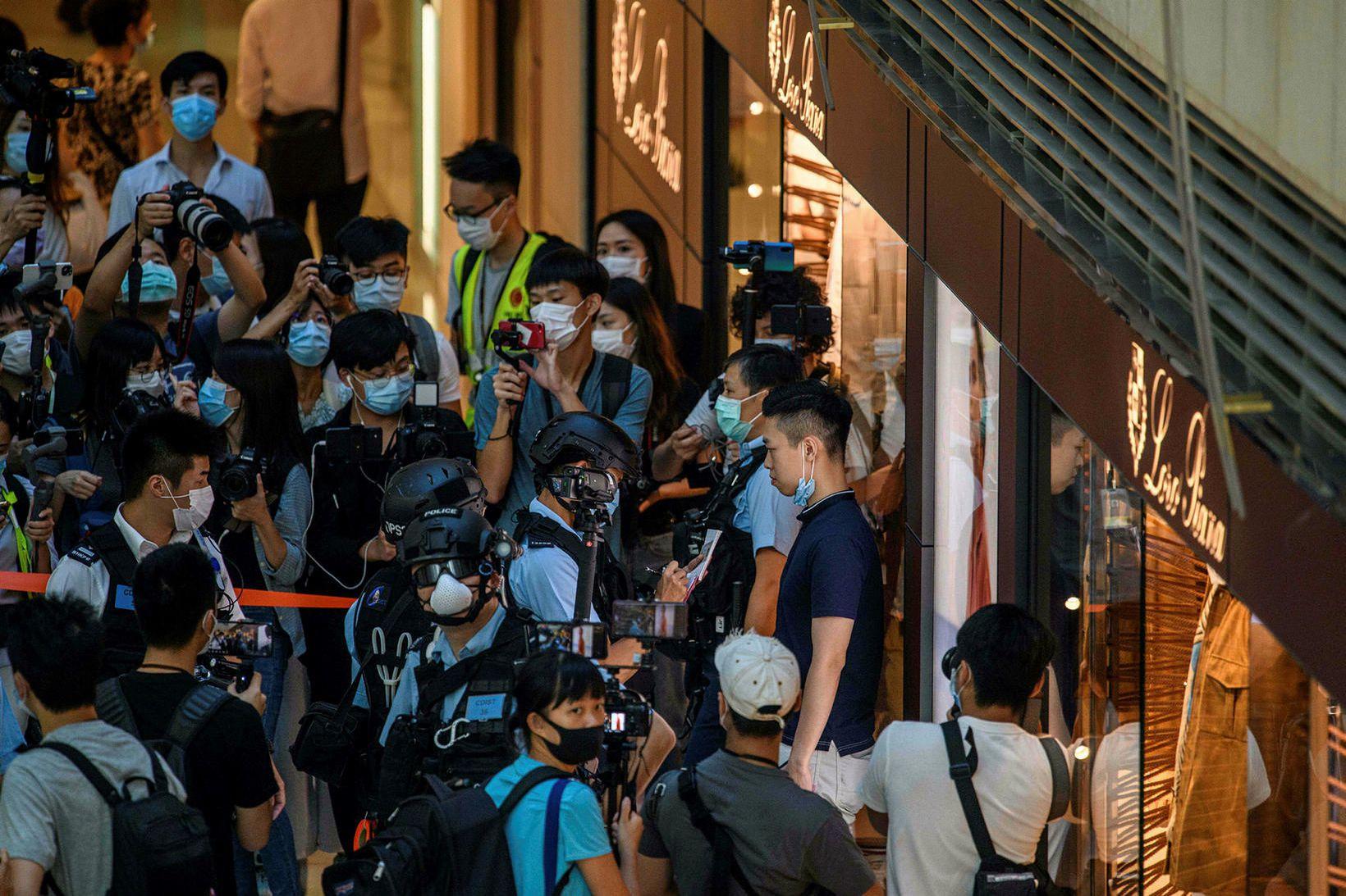 Mikil mótmæli í Hong Kong á síðasta ári urðu kveikjan …