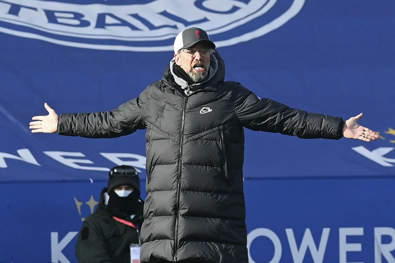 Jürgen Klopp, knattspyrnustjóri Liverpool, vill sigur gegn grönnunum í Everton …