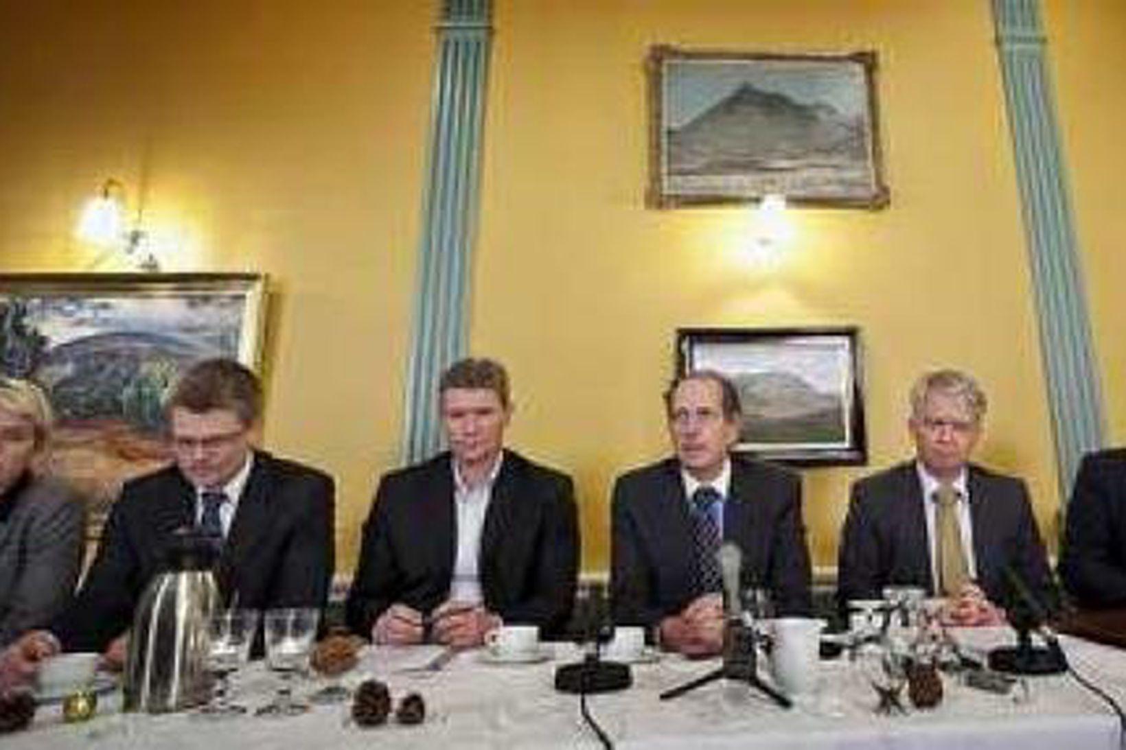 Samninganefnd Íslands kynnti Icesave-samningana í síðustu viku.
