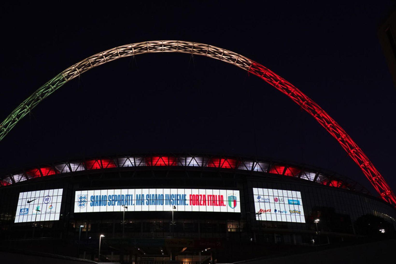 England og Ítalía áttu að mætast í vináttulandsleik á Wembley …