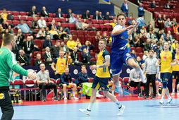 Sigvaldi Björn Guðjónsson spilaði vel í dag.