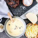 Sjúkleg sveppasósa með camembert-kryddosti