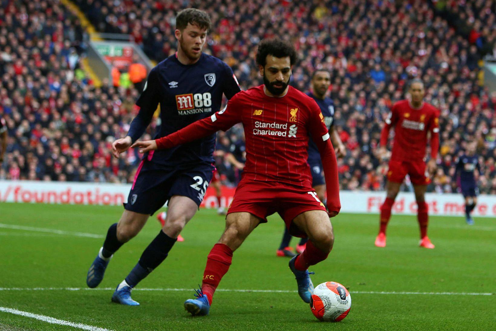 Mo Salah er í liði tímabilsins.