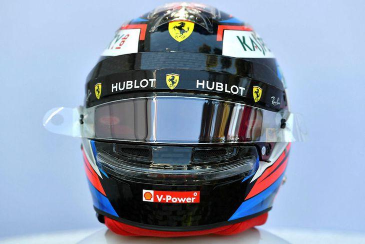 Hjálmur Kimi Räikkönen hjá Ferrari.