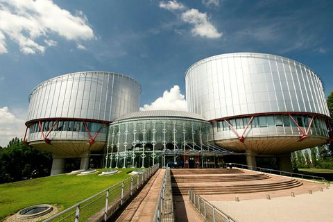The European Court of Human Rights, Strasbourg, France.