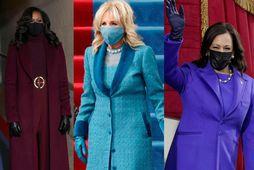 Michelle Obama, Jill Biden og Kamala Harris.
