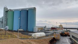 The cement silos in Akranes.