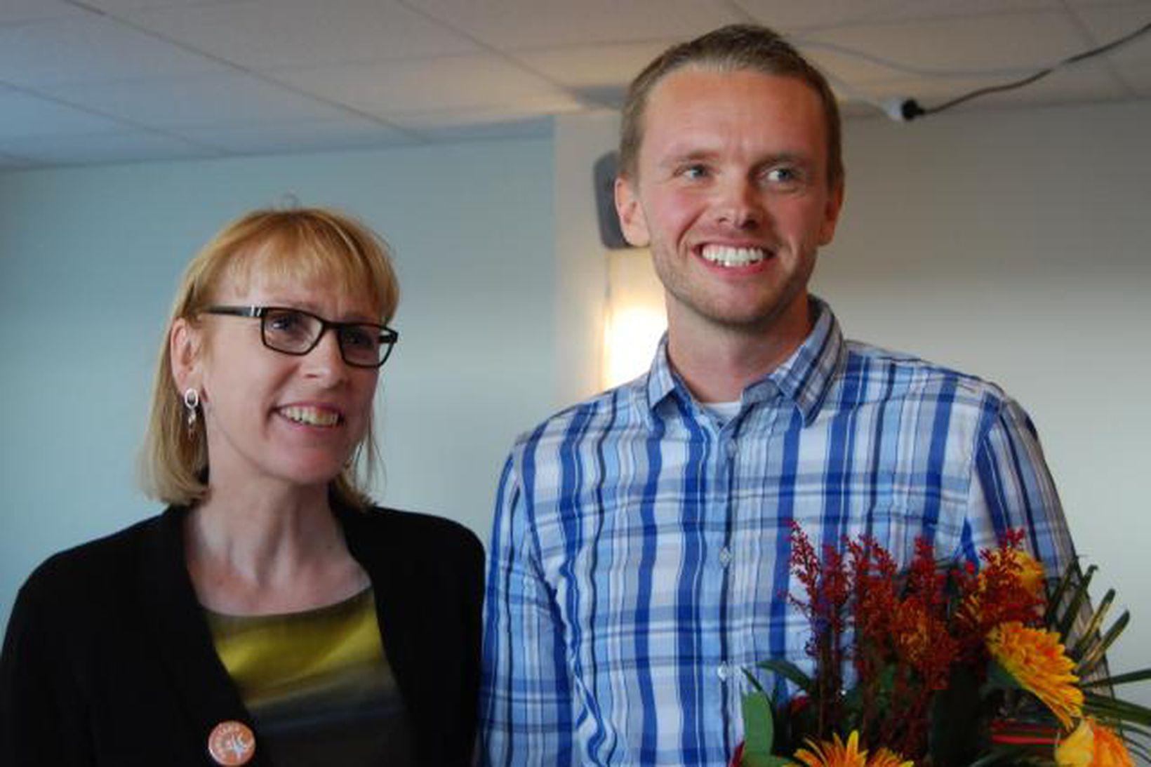 Lilja Mósesdóttir og ásamt Birgi Erni Guðjónssuni nýkjörnum formanni Samstöðu.