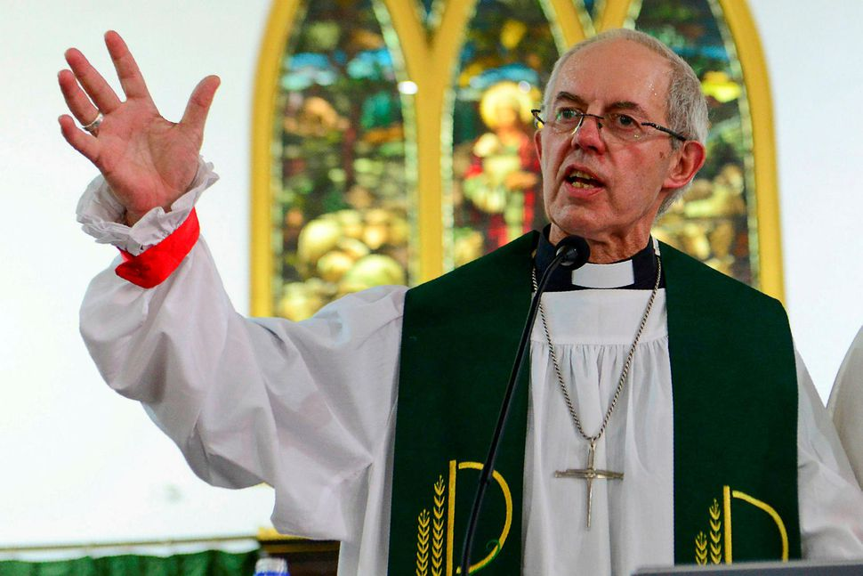 Erkibiskupinn af Canterbury, Justin Welby.