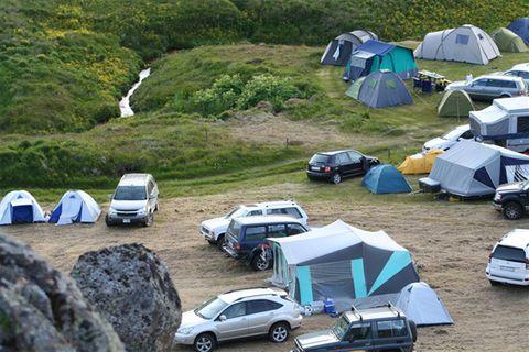 Borgarfjörður, east Iceland, Camping Ground