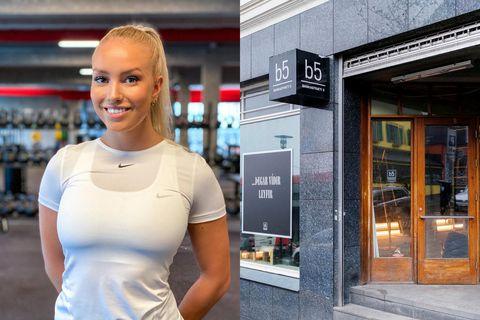 Birgitta Líf Björnsdóttir stóð fyrir partí í gær.
