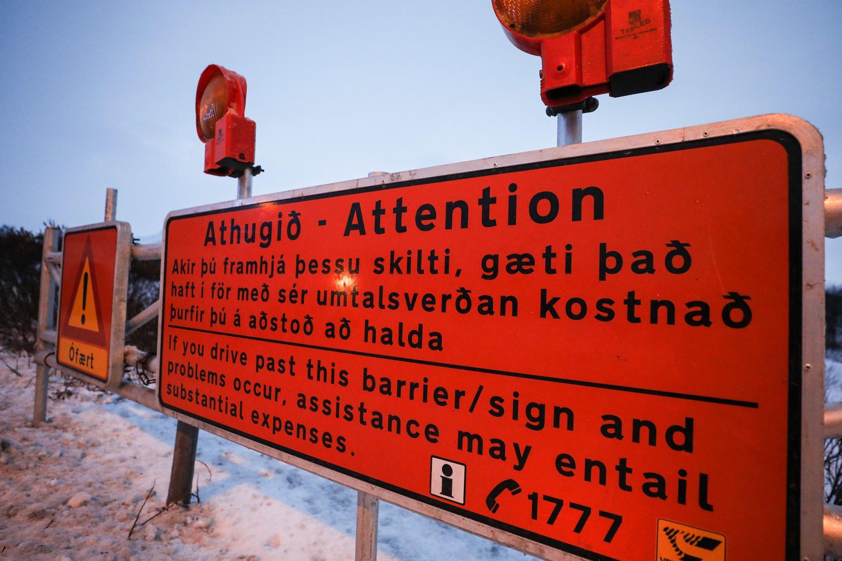 Það er ekki að ástæðulausu sem skilti sem þessi eru …