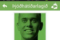 Ekki spillir fyrir að hægt sé að hlusta á þjóðhátíðarlagið í forritinu.