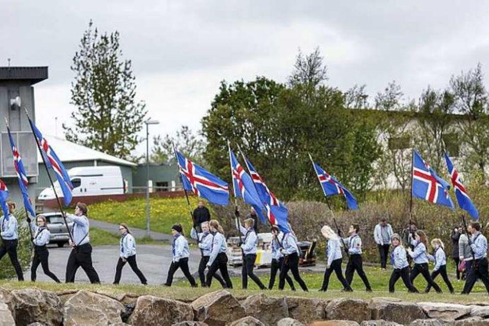 Frá hátíðarhöldum í Mosfellsbæ.