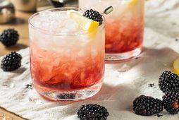 Svalandi gin drykkur með ferskum brómberjum.