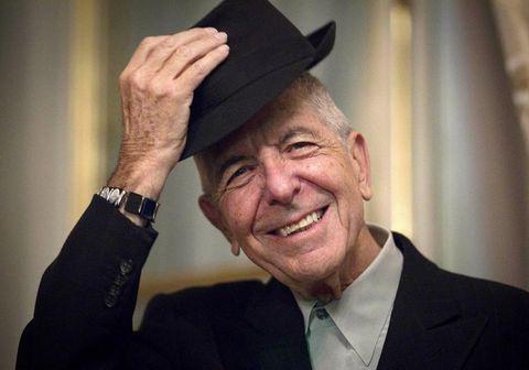 Leonard Cohen í París árið 2012.