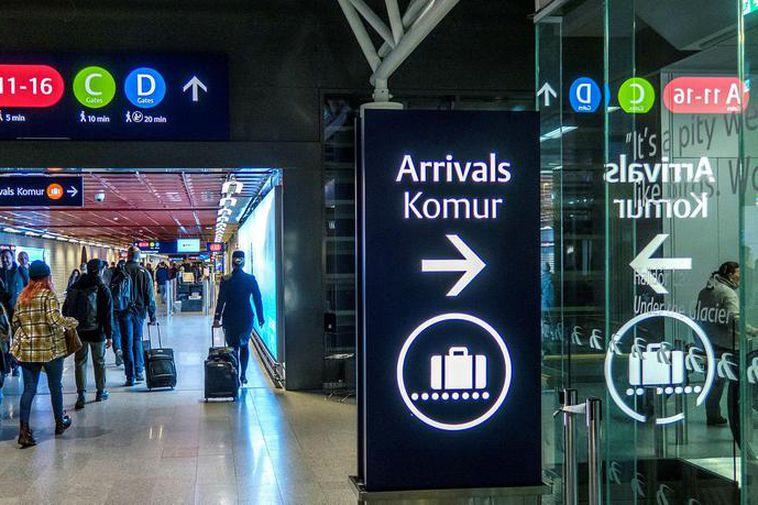 Keflavik International Airport in Iceland.