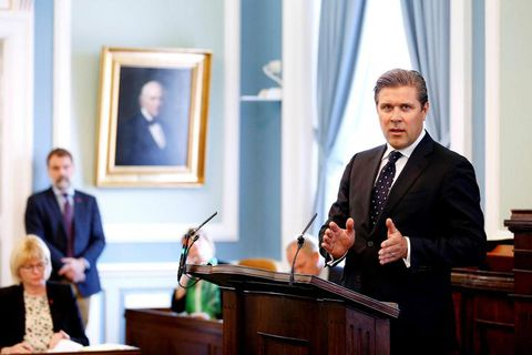 Bjarni Benediktsson, Iceland's Finance Minister.