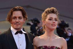 Johnny Depp og Amber Heard árið 2015.