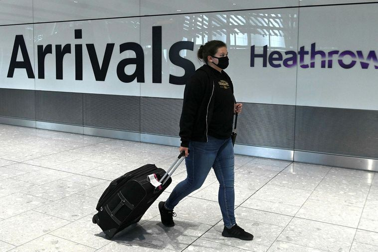 From Heathrow Airport in London.