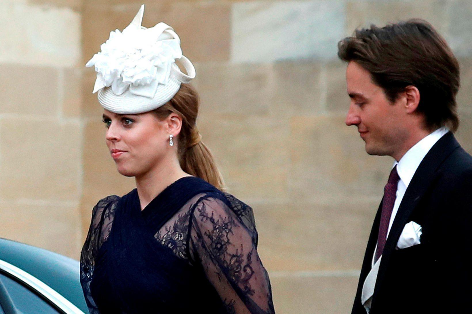 Beatrice prinsessa og Edoardo keyra nú um sveitir Frakklands.