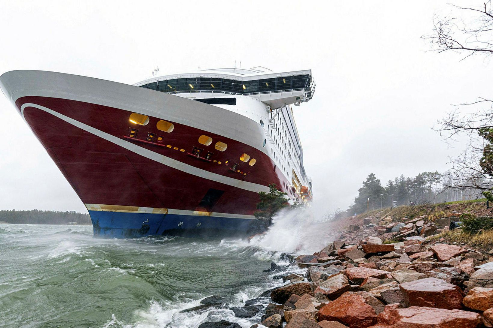 Viking Grace strandaði í gær.