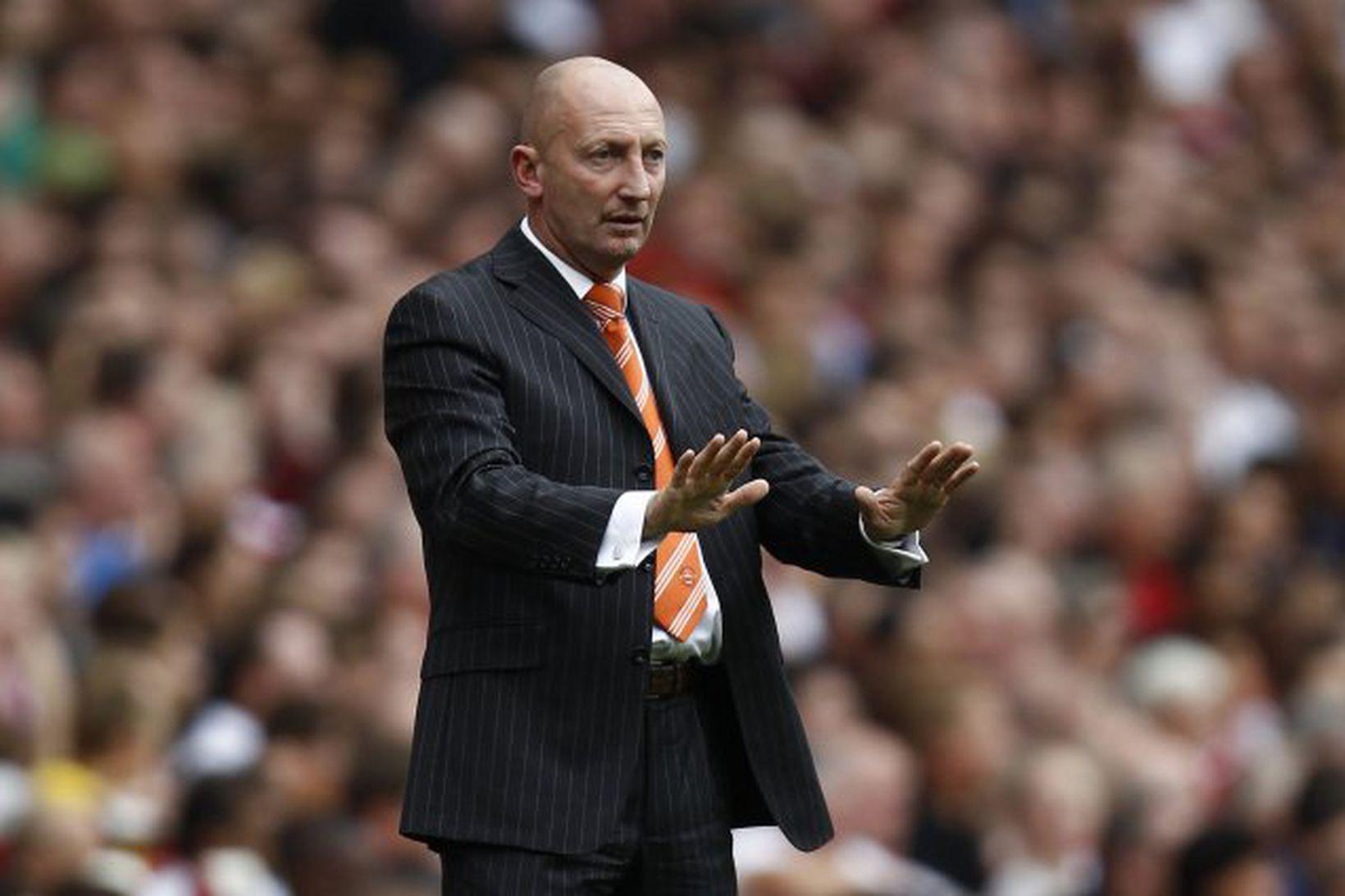 Ian Holloway stýrði liði Blackpool á sínum tíma í úrvalsdeildinni.