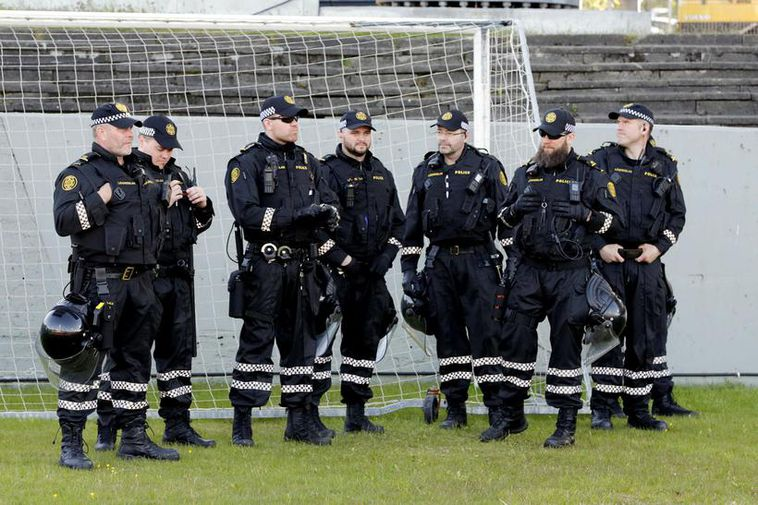 Armed police officers were present at the Iceland vs. Croatia football match on Sunday and ...