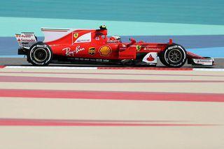 Sebastian Vettel í Barein í dag.