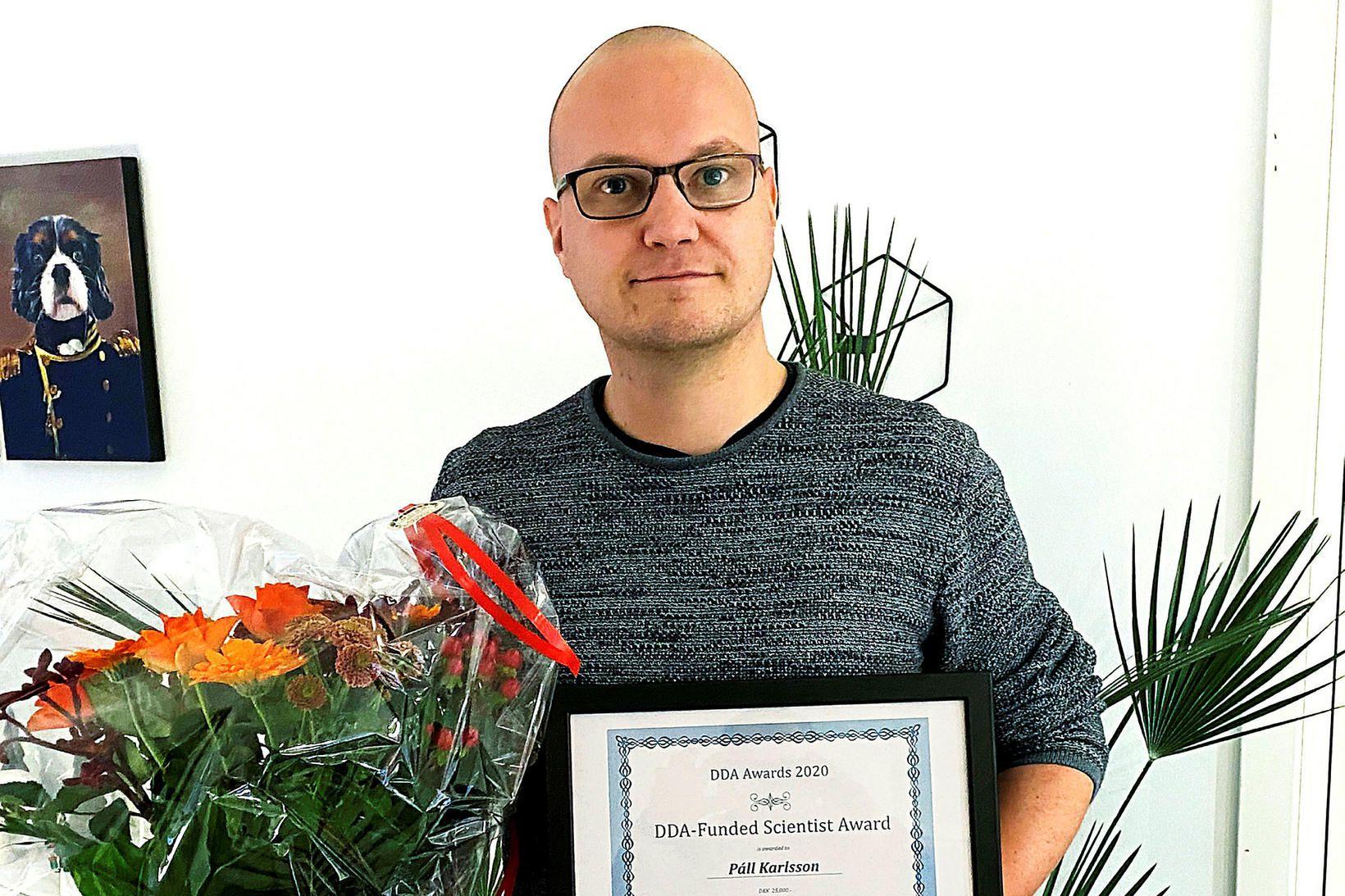 Páll Ragnar Karlsson hlaut viðurkenningu Dönsku sykursýkisakademíunnar sem rannsóknamaður ársins …