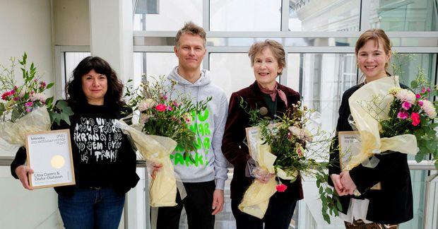 Frá vinstri Libia Castro, Ólafur Ólafsson, Kristín Jónsdóttir og Una Björg Magnúsdóttir.