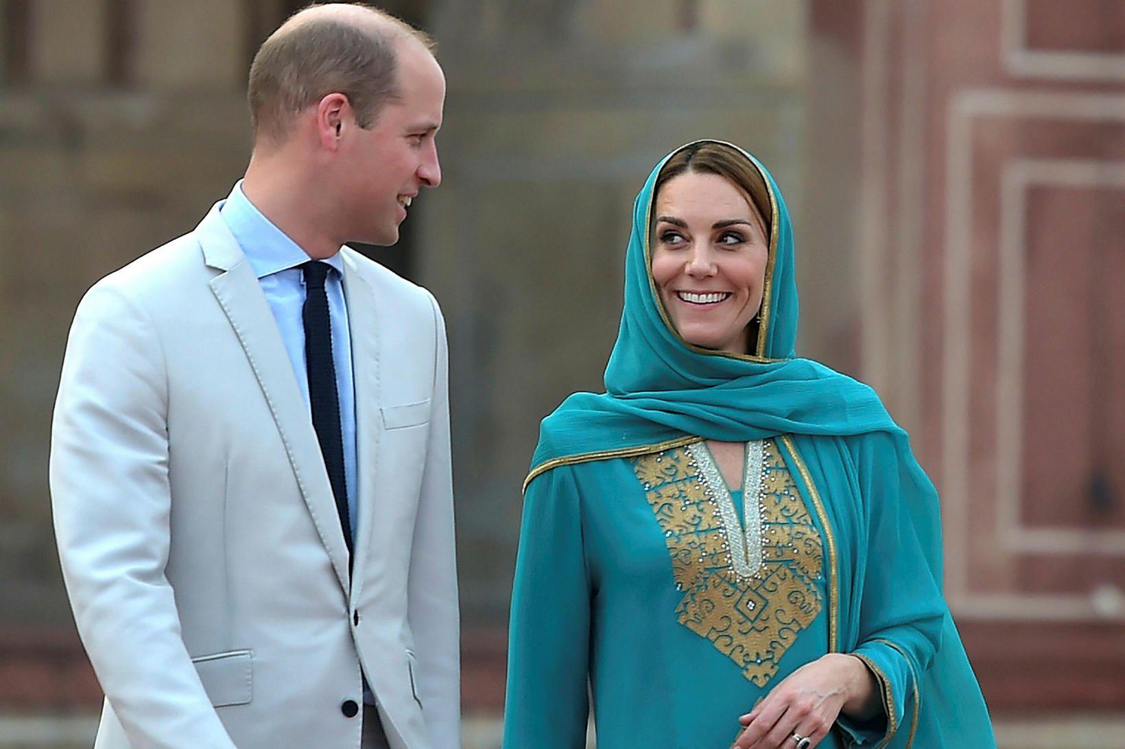 Vilhjálmur Prins og Katrín hertogaynja af Cambridge.