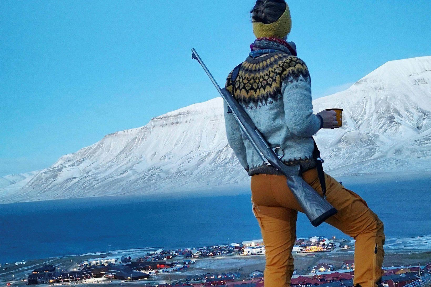 Sólveig Anna Þorvaldsdóttir býr í návígi við ísbirni á Svalbarða.