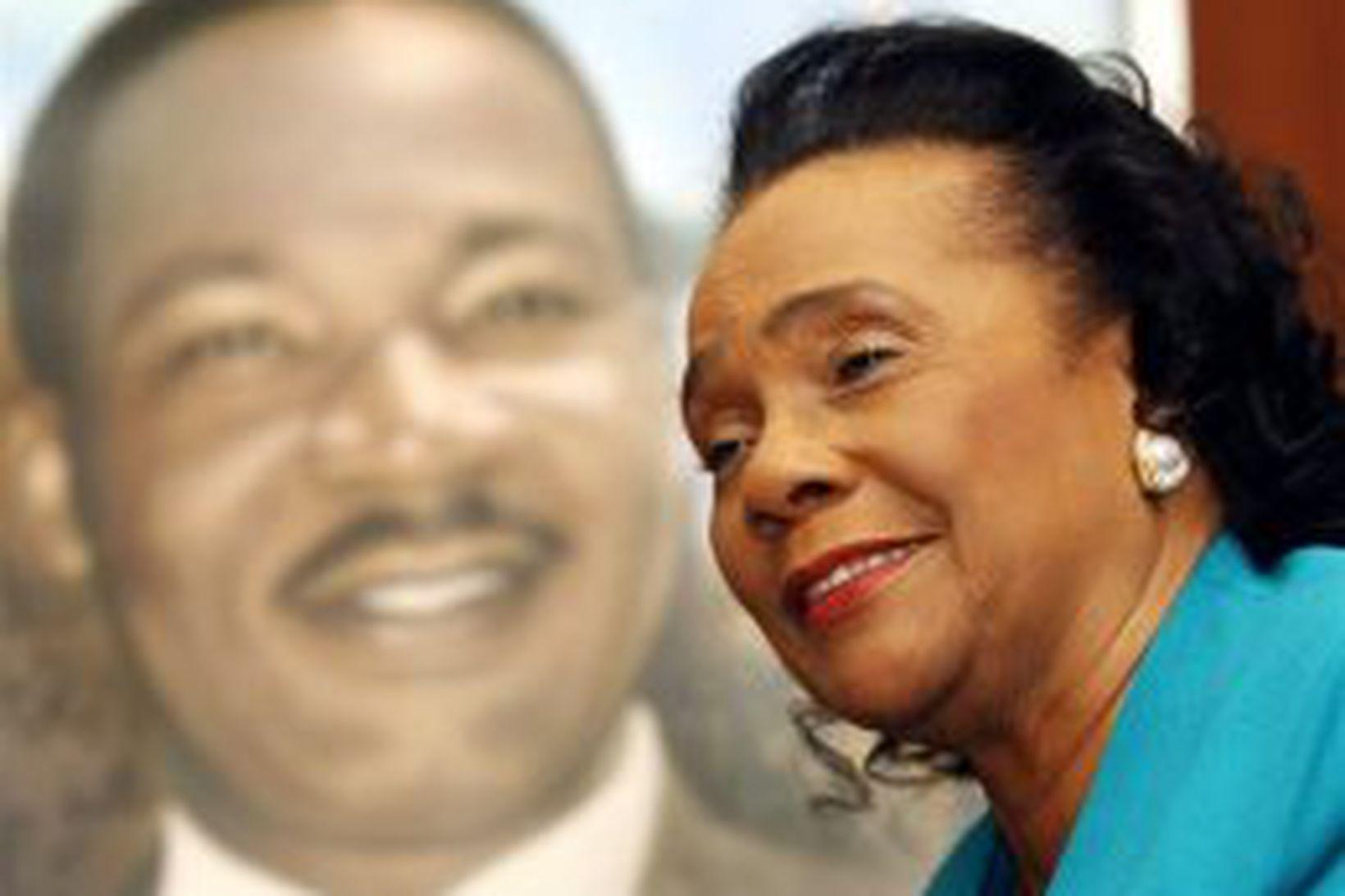 Coretta King í janúar árið 2004.