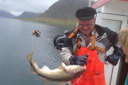 Ómar Sigurðsson kveðst ánægður með upphaf strandveiðanna.