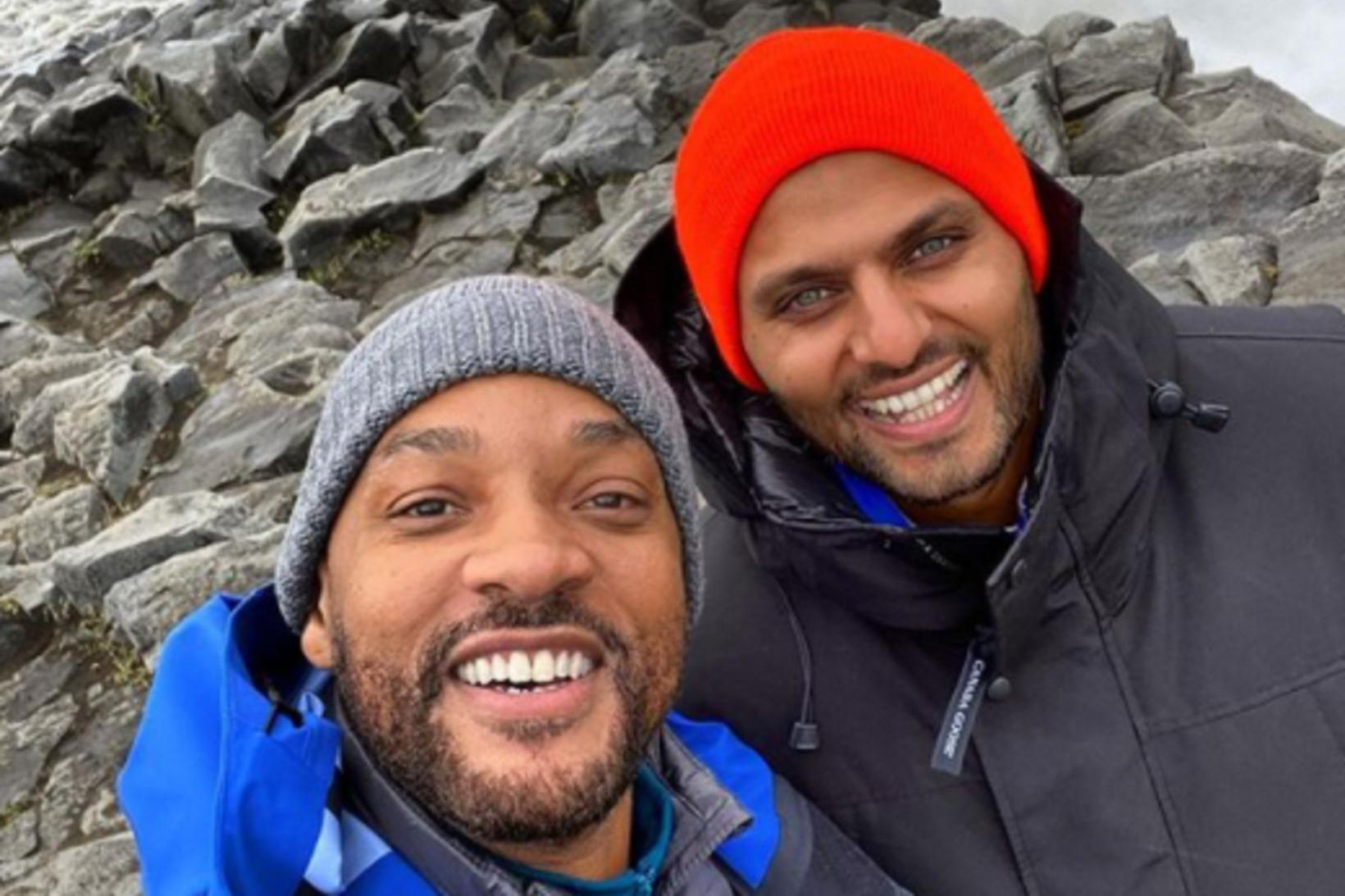 Will Smith og Jay Shetty við Dettifoss.
