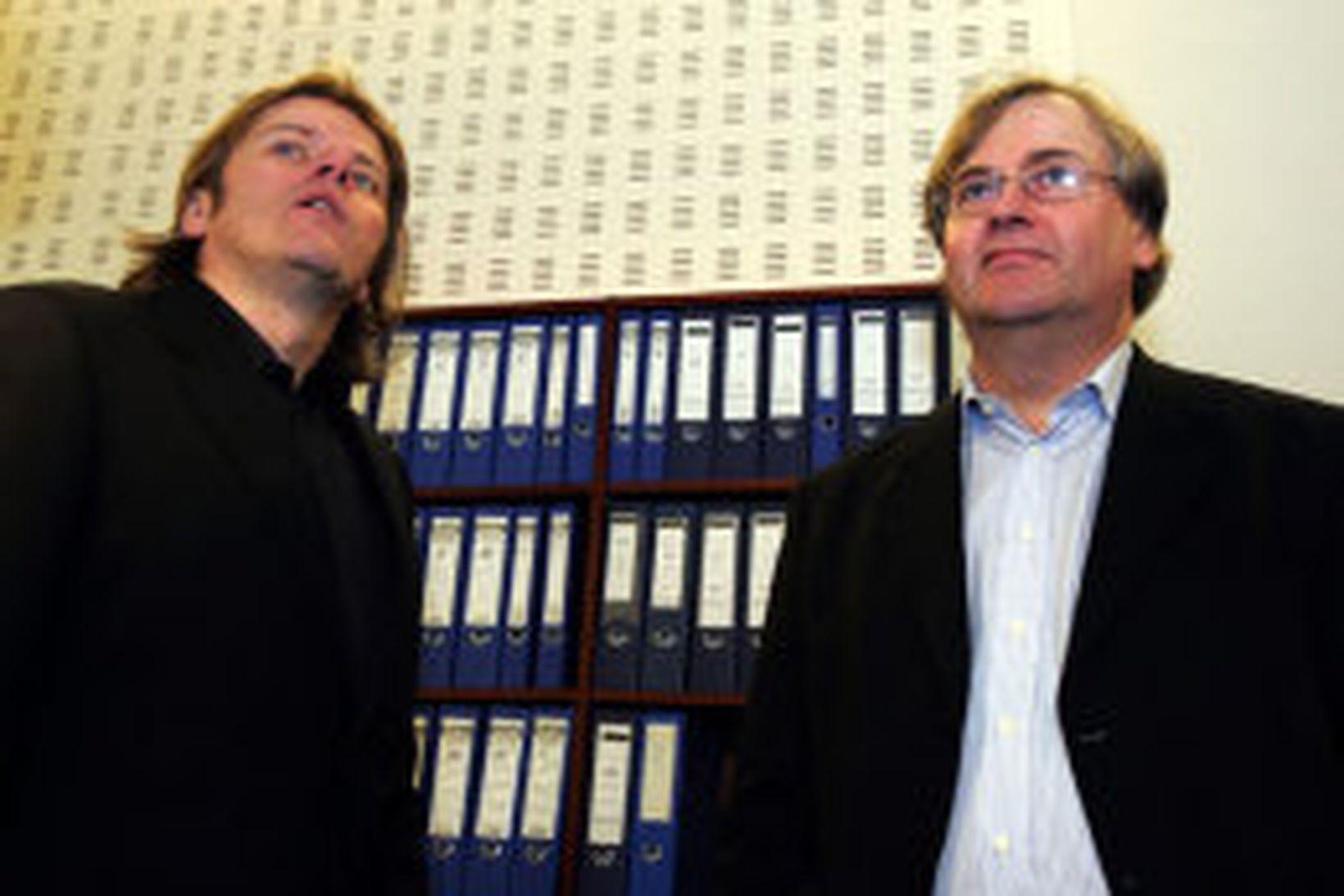 Jón Ásgeir Jóhannesson og Tryggvi Jónsson.