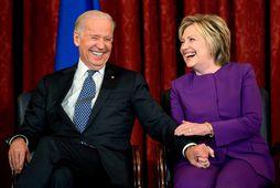 Vel hefur farið á með Biden og Clinton í gegnum tíðina.