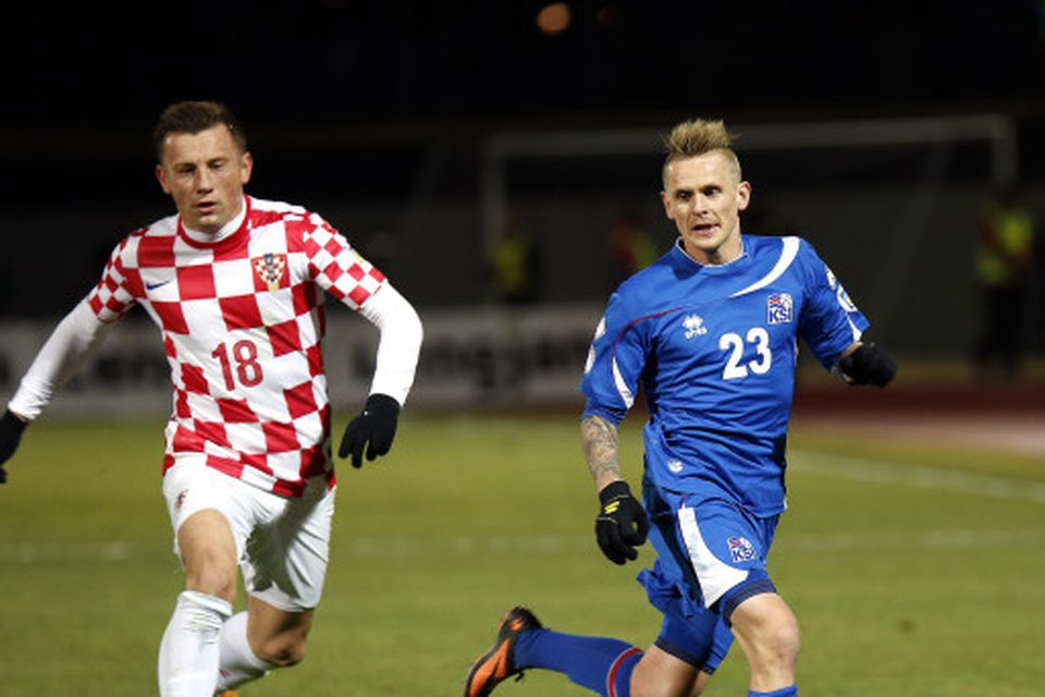 Ivica Olic og Ari Freyr Skúlason