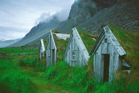 A typical looking Icelandic turf farm. This one, however, was reconstructed for a film set.