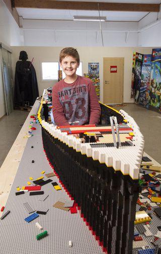 Autistic Boy Builds A 6 Metre Long Lego Titanic Iceland